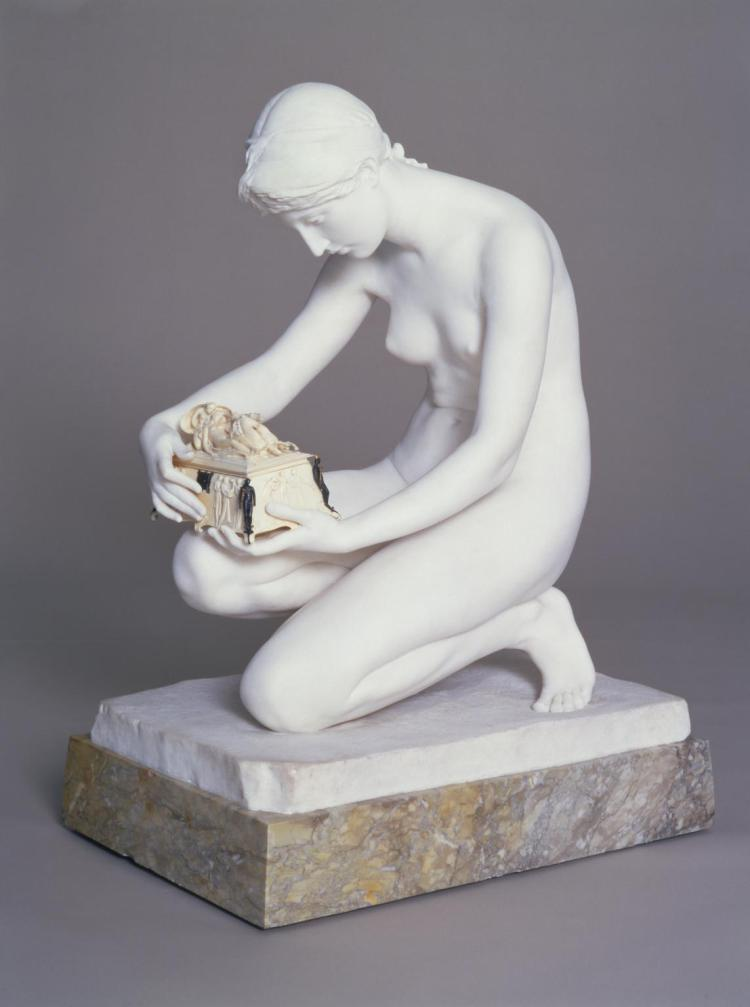 Pandora exhibited 1891 by Harry Bates 1850-1899