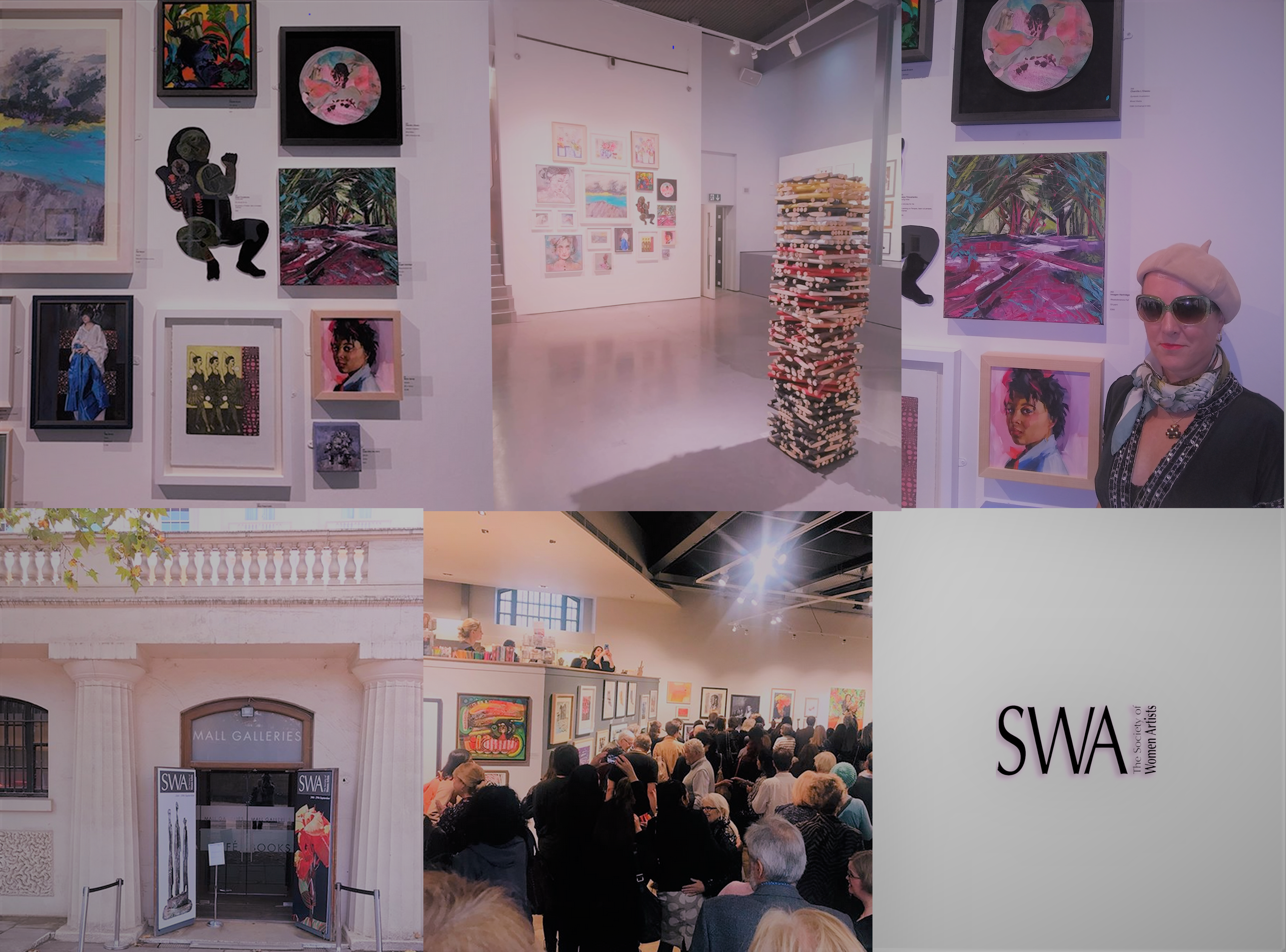 SWA 2019 @ Mall Galleries collage